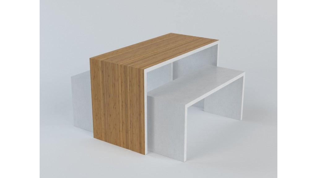 3 Floors Table, 3 Pieces