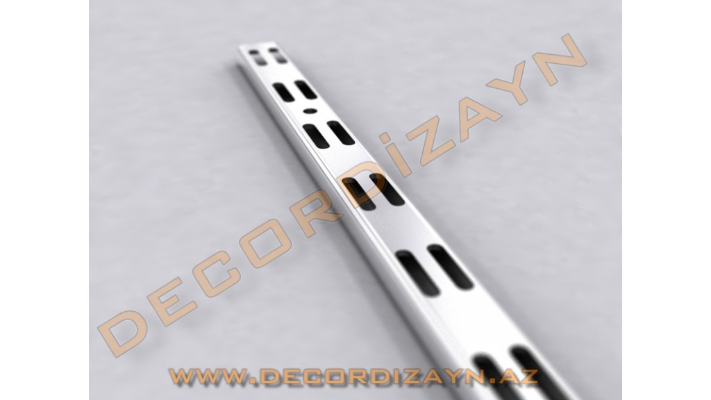 Conical Stick, 200 - 240cm, Italian, Chrome - White