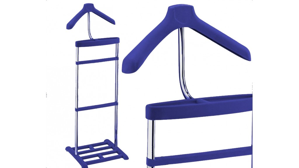 Valet Stand, Blue Suede