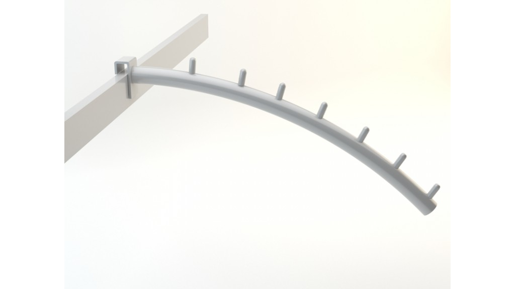 Front Faceout Bend, 10x30mm interlaced, 7-Pin, Ø25mm, 30cm, Chrome