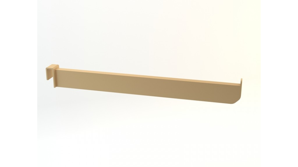 Stainless Faceout, Straight, 1 Pim, 30cm, Gold