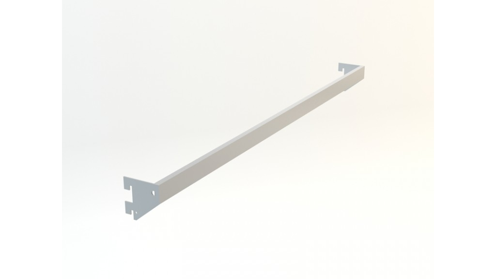 A Type Hanging Arm, 10x30mm interlaced, 80x30cm, Chrome