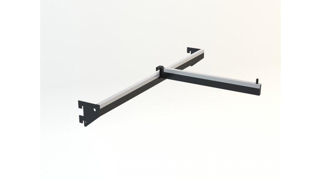 A Type Hanging Arm, 10x30mm interlaced, 60x30cm, Black