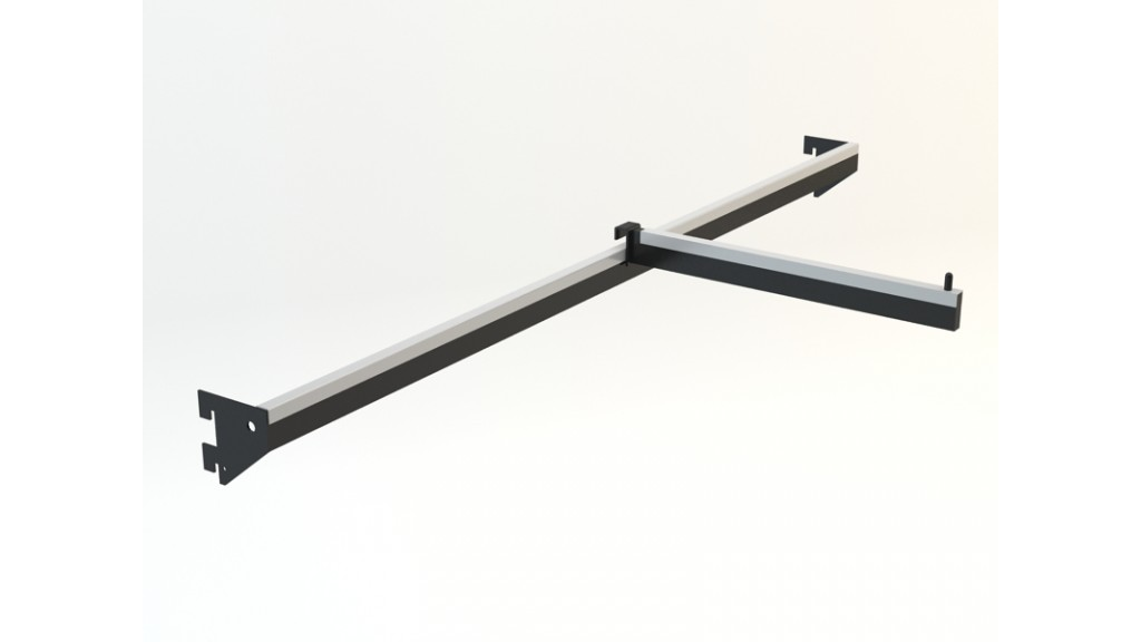 A Type Hanging Arm, 10x30mm interlaced, 90x30cm, Black