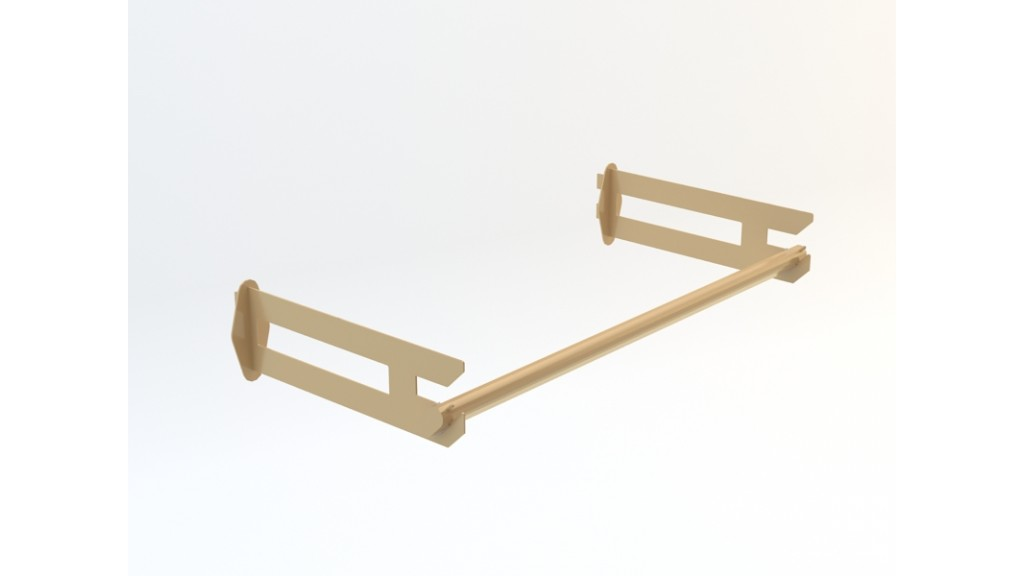 Patterned Shelf Holder, Gold, 60cm - 90cm - 120cm