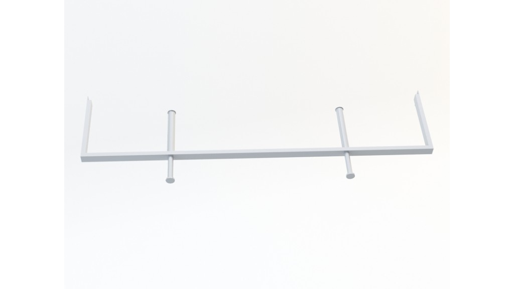 U Type Hanging Arm, 10x40mm, 120cm, Chrome