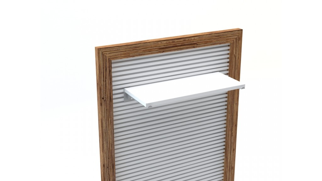 Shelf Holder, 25cm, Chrome