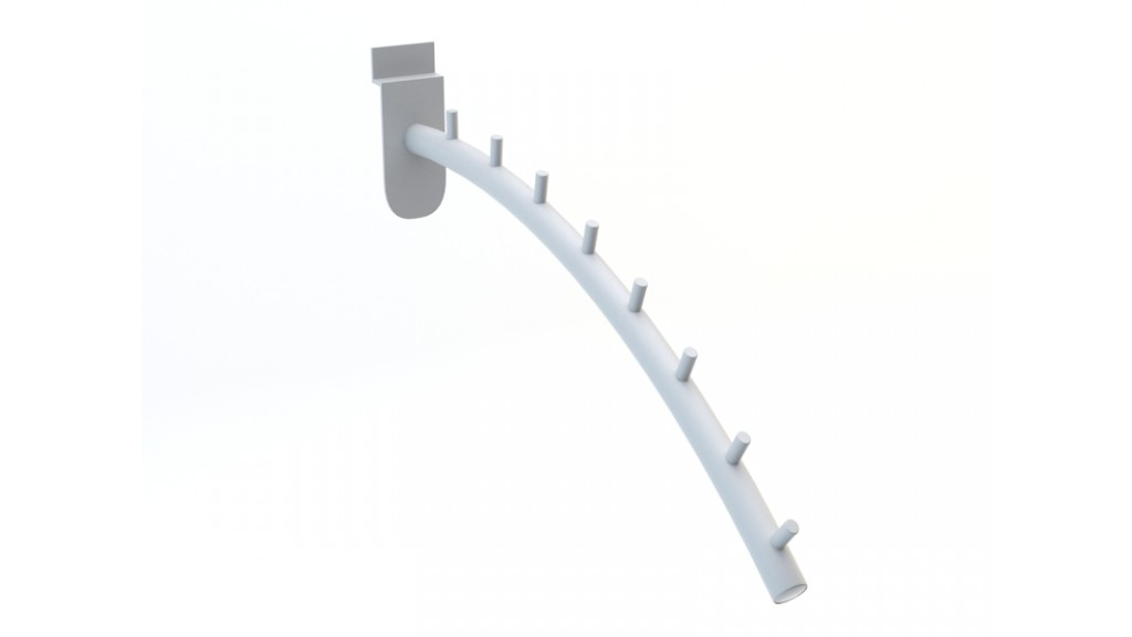Front Faceout Bend, 8-Pin, Ø25mm, 30cm, Chrome