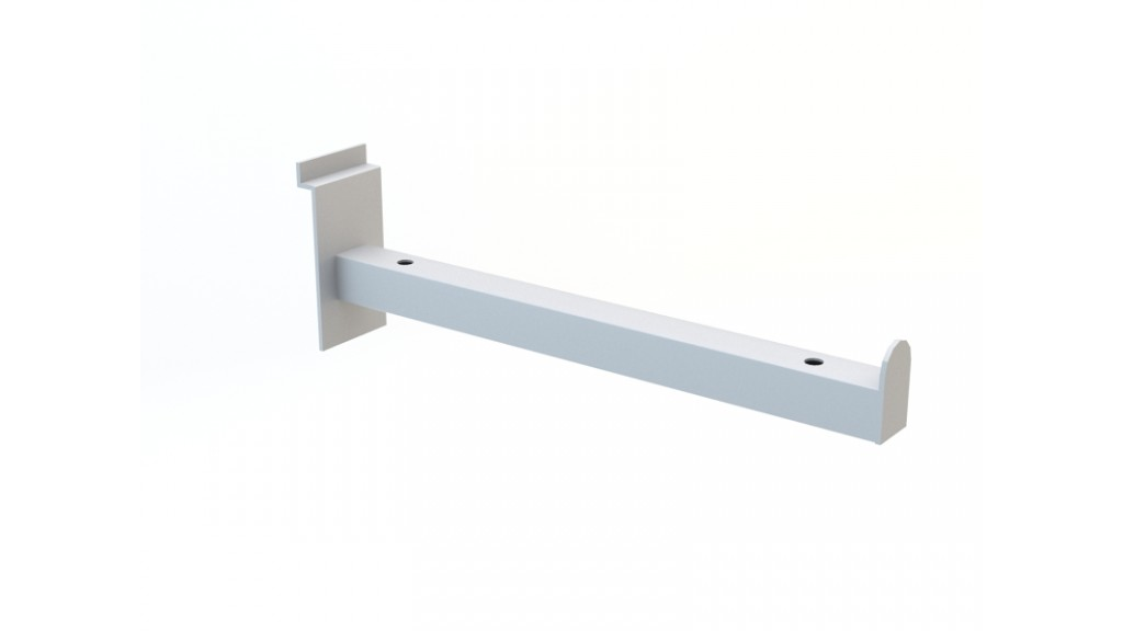 Shelf Holder, 20x20mm profile, 30cm, Chrome