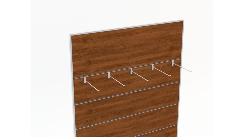 Rod bar, Oval, 25cm, Chrome