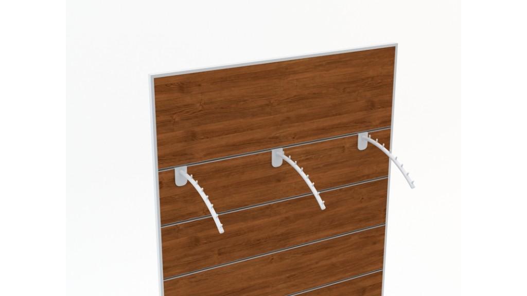 Front Faceout Bend, 8-Pin, Ø25mm, 30cm, Chrome