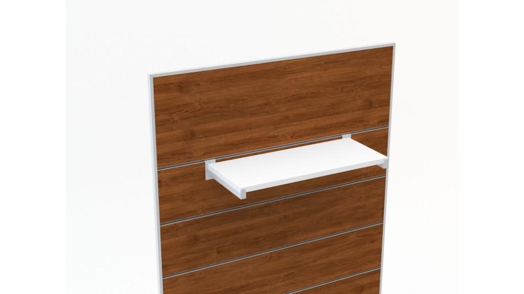Shelf Holder, 20x20mm profile, 30cm, Chrome