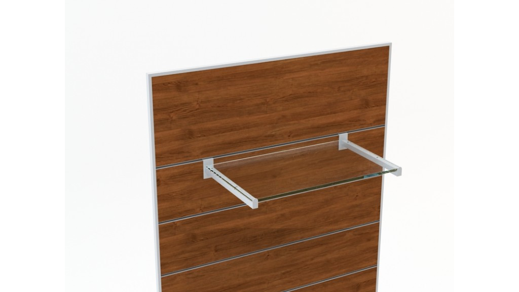 Shelf Holder, 20x20mm profile, 35cm, Chrome