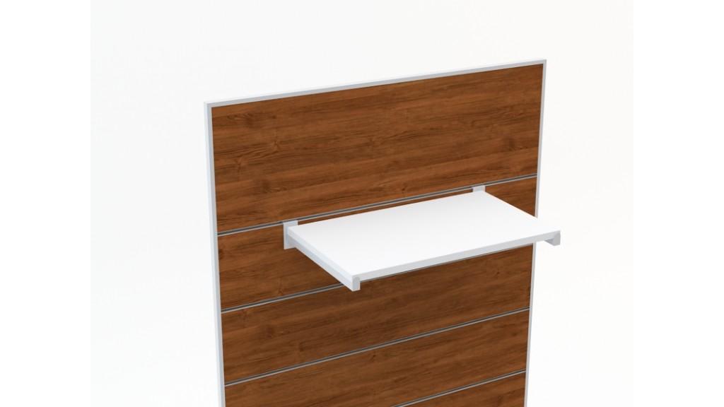 Shelf Holder, 20x20mm profile, 35cm, Chrome