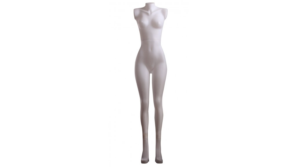 Female Plastic Mannequin, Headless, Armless